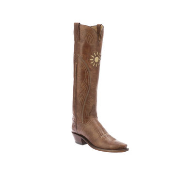 Women's Lucchese Thelma Goat Boots Handcrafted Tan - yeehawcowboy