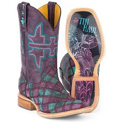 Women's Tin Haul Chevron Boots With Eagle Sole Handcrafted - yeehawcowboy
