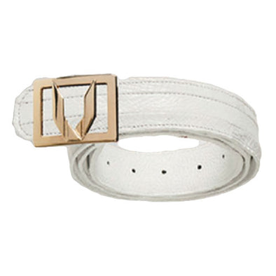 Vestigium Caiman Belt With Interchangeable Gold & Silver Buckles - yeehawcowboy
