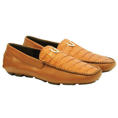 Men's Vestigium Genuine Caiman Belly Loafers Handcrafted - yeehawcowboy