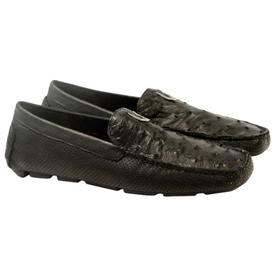 Men's Vestigium Genuine Ostrich Loafers Handcrafted - yeehawcowboy