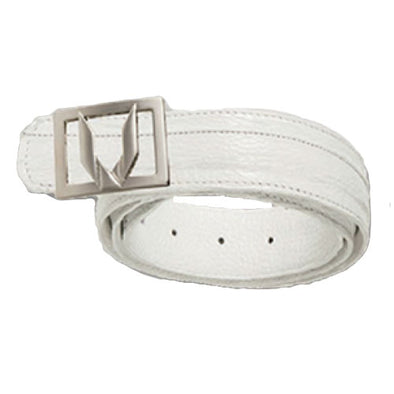 Vestigium Sharkskin Belt W Interchangeable Gold & Silver Buckle - yeehawcowboy