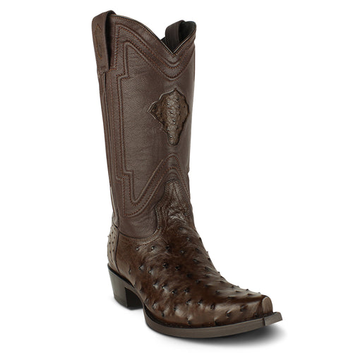 Men's Yeehaw Cowboy Ostrich Boots Snip Toe Handcrafted - yeehawcowboy