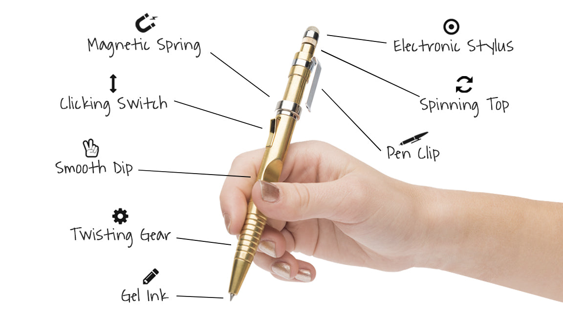 Fidgi Pen 2.0 - Golden Rose