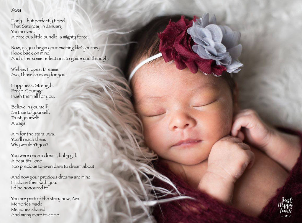 Personalized Poetry Gift for Babies
