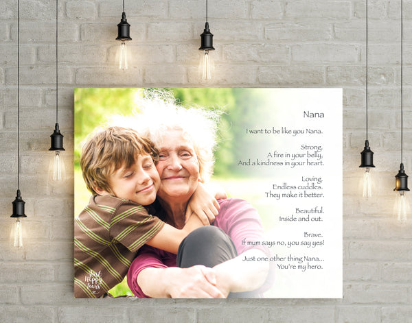 Grandparents PERSONALIZED Poetry Gift