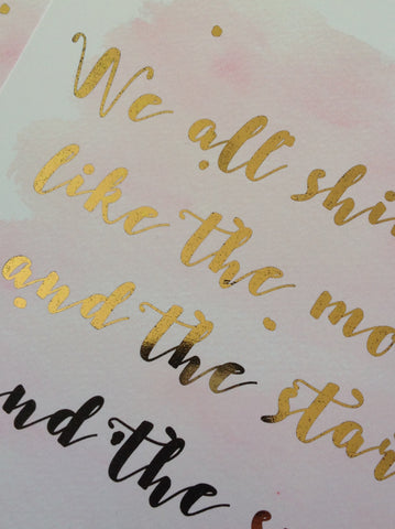 gold foil printing at home, diy gold foil printing, how to make a gold foil print, how to print with gold foil, how to print gold foil on paper