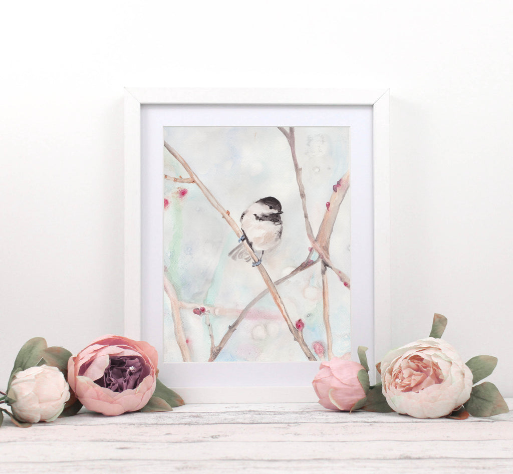Watercolour Chickadee, Bird Watercolor, Bird Watching Gifts, Bird Wall Art, Bird Watercolor Painting, Birder Gifts