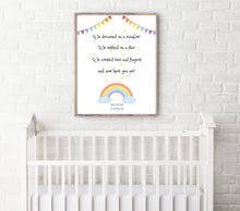 Rainbow Nursery Decor Wall Art, Baby Rainbow Print, Gender Neutral Nursery Decor