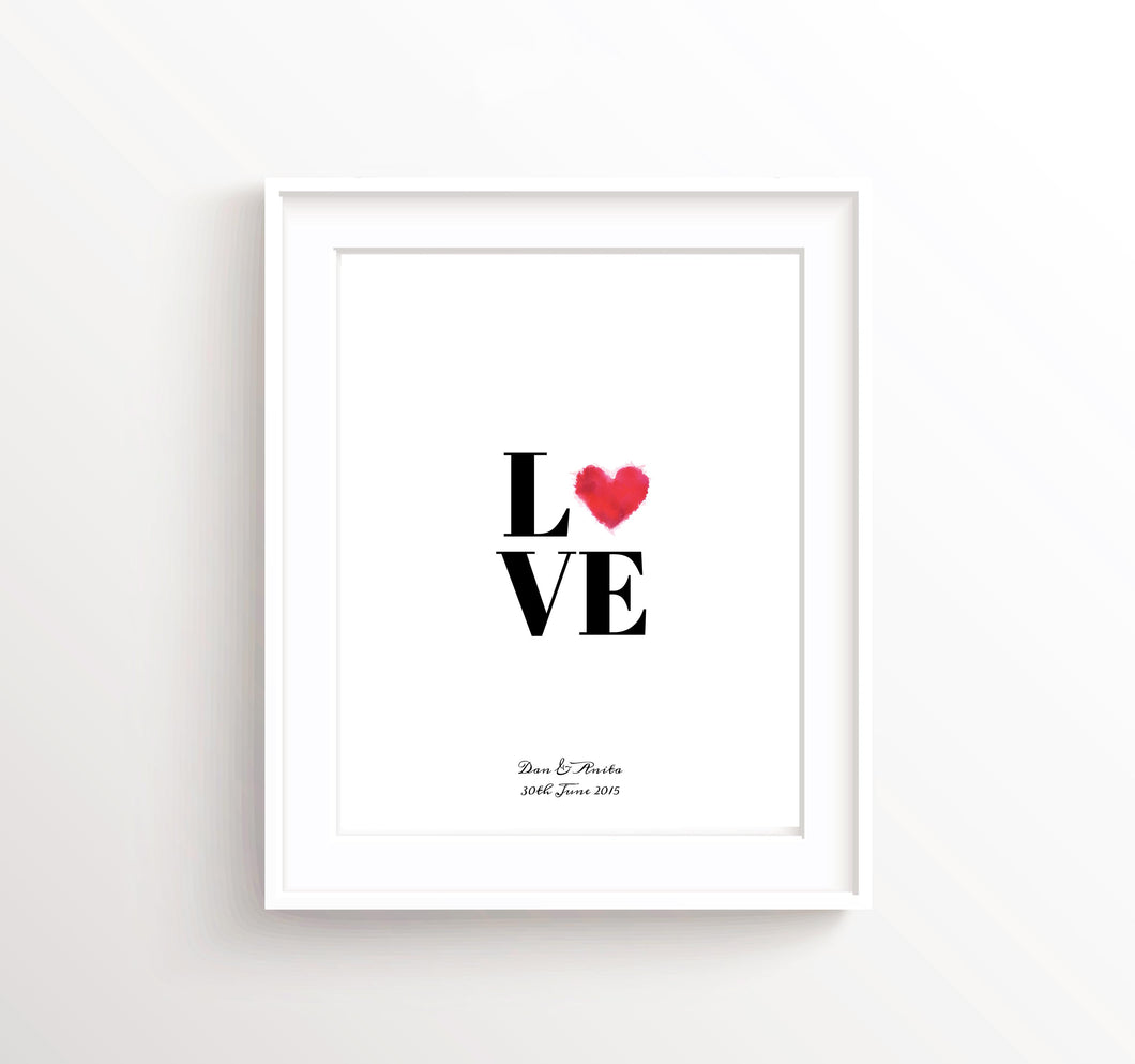 Love Wall Art UK, Engagement Gift Ideas, Personalised Couple Gifts