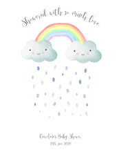 Baby Shower Fingerprint Tree, Baby Shower Fingerprint Keepsake, Baby Shower Fingerprint Cloud