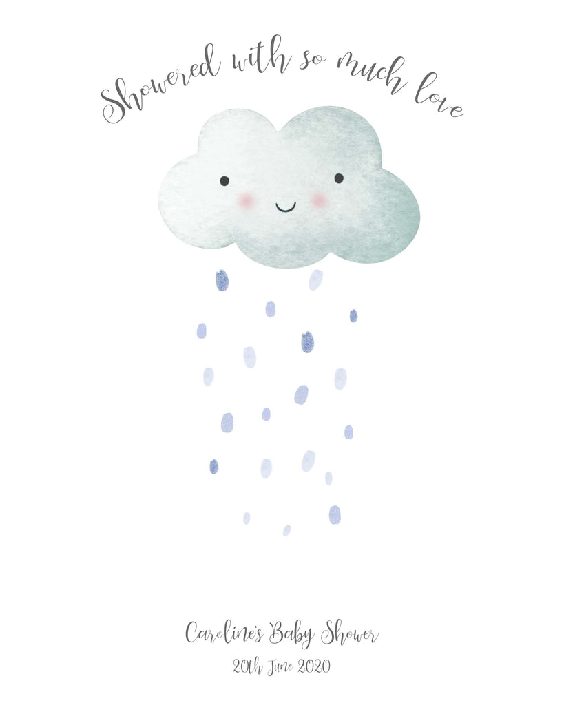 Cloud Theme Baby Shower Ideas, Baby Shower Fingerprint Keepsake Tree Gift Idea, Baby Shower Ideas UK, Baby Shower Prints
