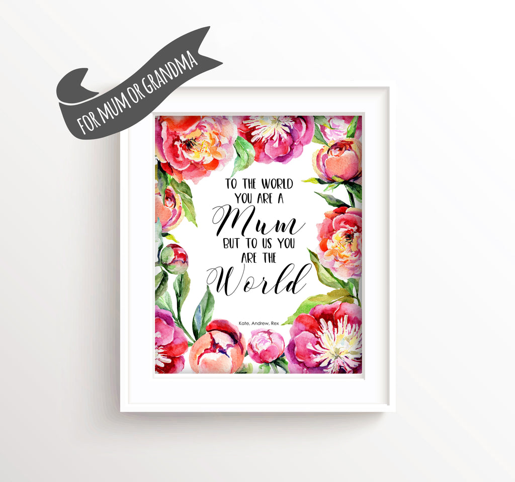 Personalised Mothers Day Prints, Mothers Day Wall Art, Mum Prints, mothers day quotes, mothers day printables