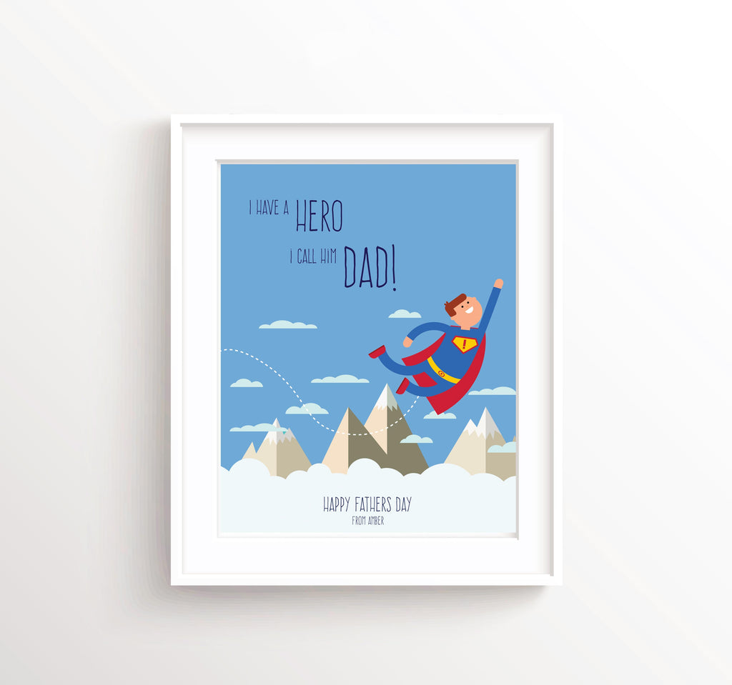 Personalised Fathers Day Print, Gift Ideas for Dad, Fathers Day Gift