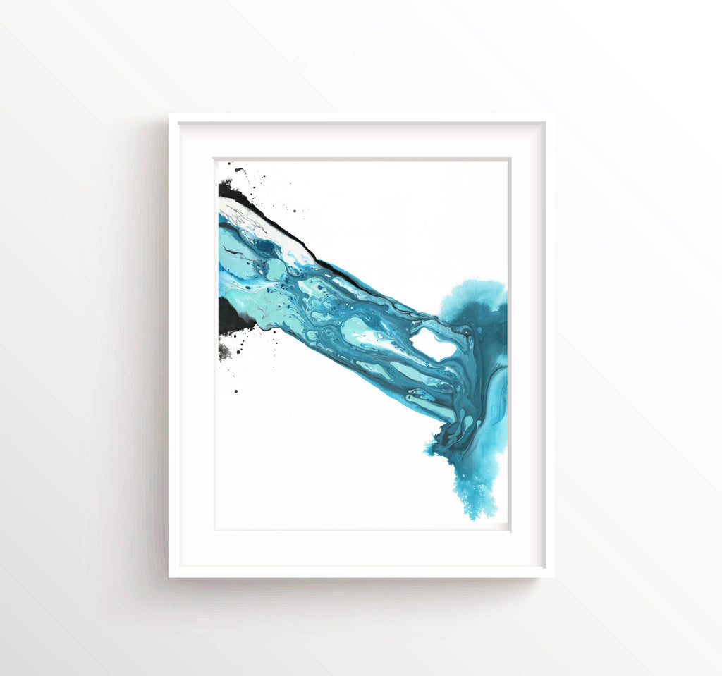 Abstract Art Prints UK, Abstract Wall Art UK, Abstract Wall Art Prints, Blue Abstract Print, Blue Abstract Wall Art