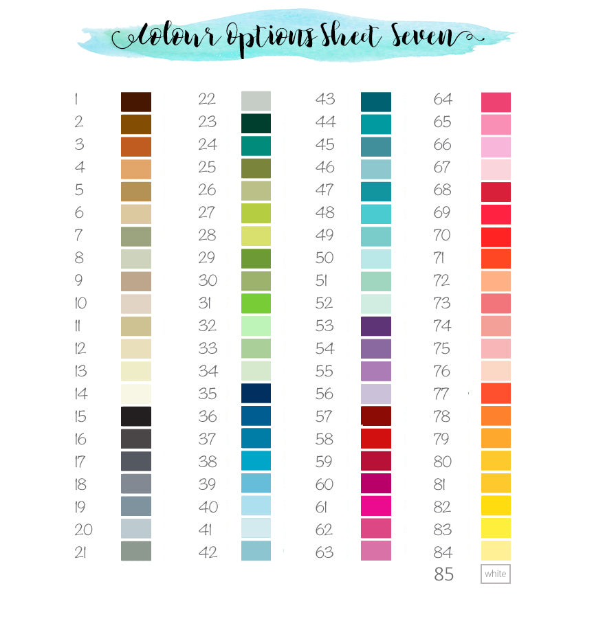 Crafty Cow Design - Colour Pallette colour choice menu
