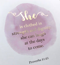 proverbs 31 25 wall art, she is clothed in strength and dignity wall art, pink nursery ideas, pink nursery decor