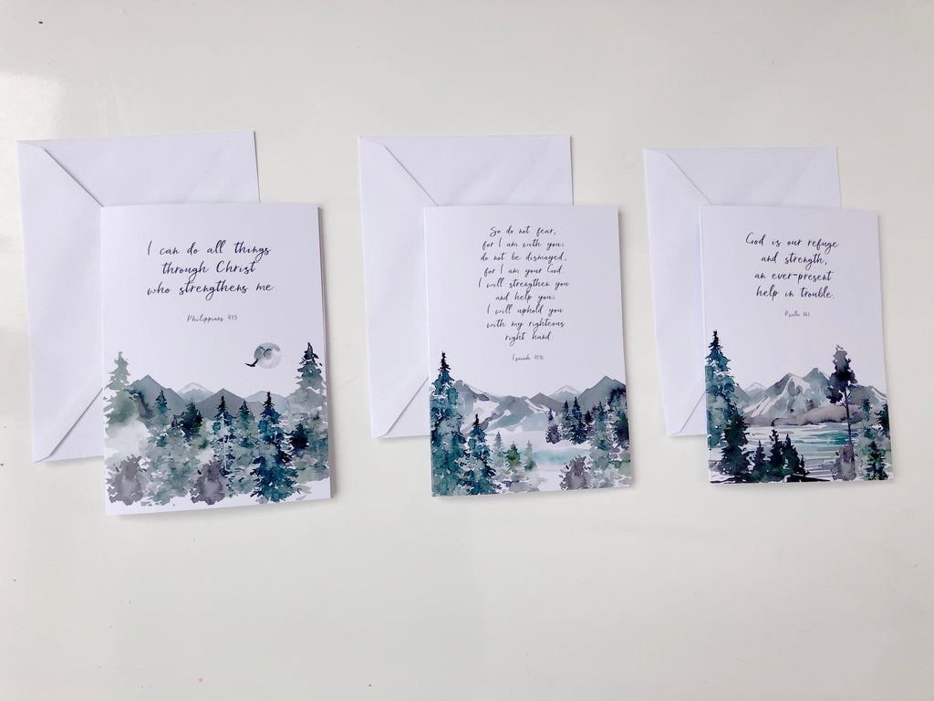 Religious Cards For All Occasions UK, Christian Cards Online UK, pack of blank cards christian, Pack of Mountain Cards
