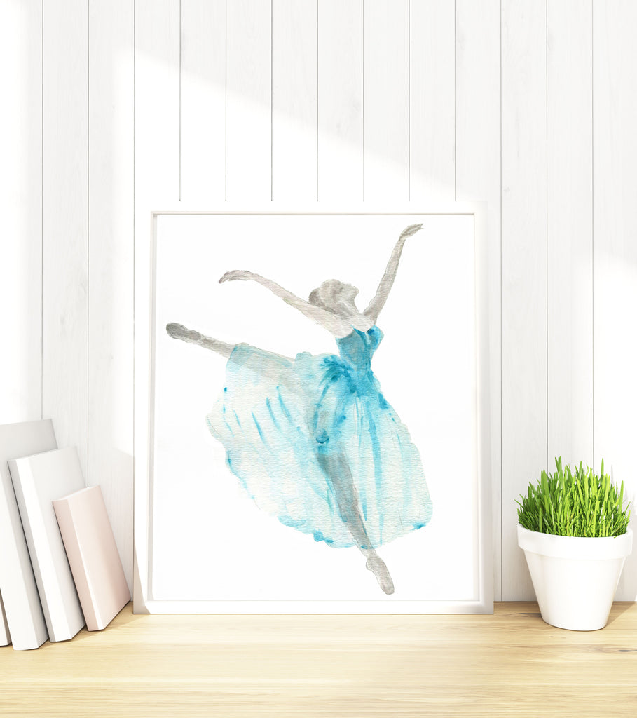 Ballerina Watercolor Illustration, Ballerina Pictures, Ballerina Print, Dancer Pictures, Dancer Gifts, Dancer Gift Ideas