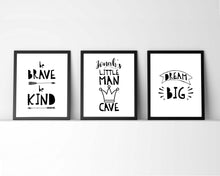 Baby Boy Black and White Nursery Prints, Inspirational Nursery Quotes, Baby boy nursery wall decor, boy nursery pictures