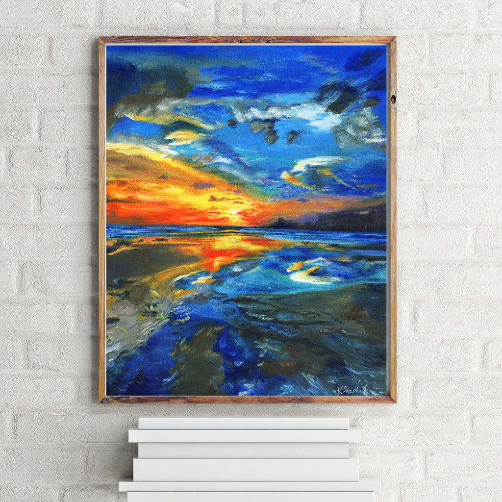 Coastal Wall Decor, coastal prints, coastal sunset, coastal art prints, coastal wall art, sunset prints, sunset seascape