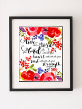 Love the Lord Your God With All Your Heart Wall Art, Deuteronomy 6 5 Print Poster