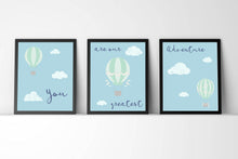 kids wall art, Nursery Quote Prints, Set of 3 Nursery Prints, Nursery Print Set of 3, blue nursery ideas