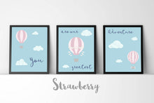 Nursery Print Set of 3 Prints, Blue Nursery Decor, set of 3 nursery prints uk, children's prints uk, 3 print set