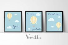 You Are Our Greatest Adventure, Hot Air Balloon Nursery, Set of 3 Prints, Gifts for Expectant Mothers