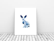 Rabbit watercolour print, Watercolour rabbit print, Hare Art Print, Watercolour Hare Pictures, hare wall art