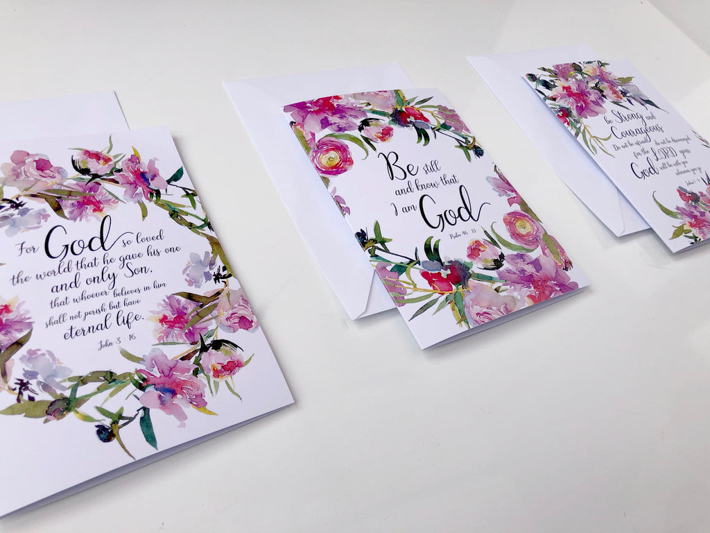 floral bible verse cards to hand out, floral bible verse greeting cards, scripture cards uk, bible verse cards uk