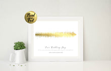 Copper Wall Art, Gold Foil Print Poster, gold foil art, Rose Gold Bedroom Decor, Rose Gold Soundwave Print