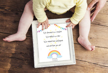 Birth Details Print, Personalised Nursery Gifts, Gift for Rainbow Baby