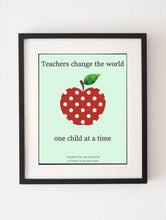 Teacher Appreciation Gift, Classroom Art, End of Year Teacher, Teacher Appreciation Print, Kindergarten Teacher Gifts