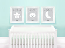 Nursery Art Print Sets, Nursery Quote Prints, set of 3 nursery prints uk, mint nursery decor, mint nursery wall decor