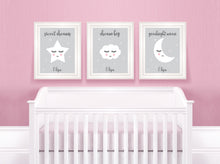 Sweet Dreams Nursery Art for Kids, Dream Big Nursery Print, Goodnight Moon Nursery Decor, Nursery Print Set of 3 Prints