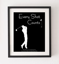 Golf Print Poster, Golfer Present Gift, Personalised Gifts for Men, Dad Retirement Gifts for Him, custom Golf Posters