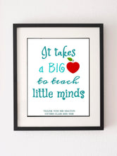 Daycare Appreciation Gift, Pre School Teacher Gifts, Teacher Appreciation Print, Teacher Gift From Class, teacher thanks