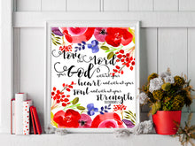 Romans 12 Bible Verse Poster, Biblical Quotes Wall Art Christian Gifts for Women, Scripture Art