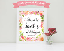Bridal Shower Welcome Poster, Personalised Hen Party Welcome Prints, Bridal Shower Poster, Bridal Shower Sign