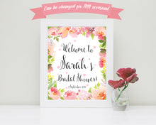 Hen Party Sign, Bridal Shower Accessories, Hen Party Decorations, Bridal Shower Welcome Sign, Bridal Shower Sign