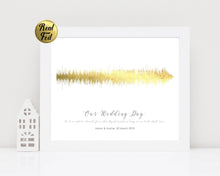 Wedding Vow Art, Unique Wedding Gift for Couple, Personalised Sound Wave Print, Wedding Keepsake, Song Wave Print,