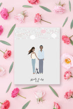 personalised family print, personalised family illustration, personalised family portrait