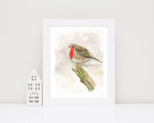 Robin Redbreast, Retirement Gift for Man, Robin Art, Watercolour Robin Wall Art, Bird Lover Gifts idea