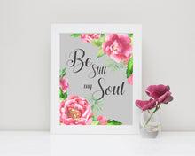 spiritual art prints, Be Still My Soul Wall Art Prints A4, Bible Verse Pictures, Christian Art Poster, Biblical Quotes