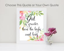 Floral Bible Verse Print - ideal gifts for a christian or a lovely addition to a christian nursery;