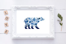 Polar Bear Abstract Wall Art, Polar Bear Abstract Wall Decor, Polar Bear Abstract Art Prints, Abstract Polar Bear Art