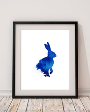 rabbit watercolour illustration, rabbit watercolour artwork, rabbit painting, uk watercolour artists, uk watercolour