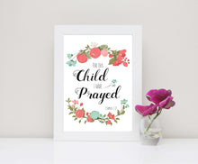 For This Child I Prayed Wall Art - Bible Verse Wall Art