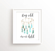 Stay Wild Moon Child Print, Watercolour Nursery Prints, Watercolour Nursery Art, Tribal Nursery Decor,